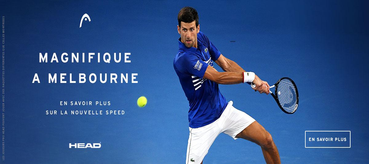 Victoire de Djokovic à l'Open d'Australie avec raquette Head Graphene 360