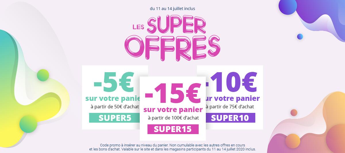 Jusqu'à 15€ de remise avec les super offres !