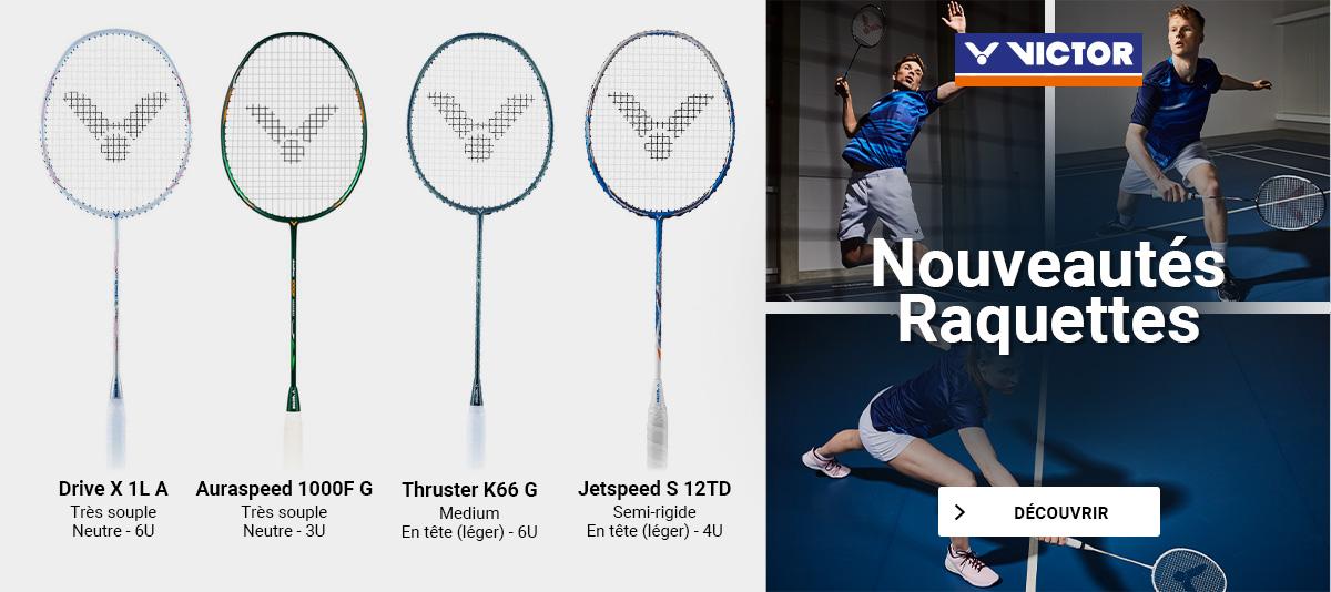 Nouvelles raquettes de badminton Victor !