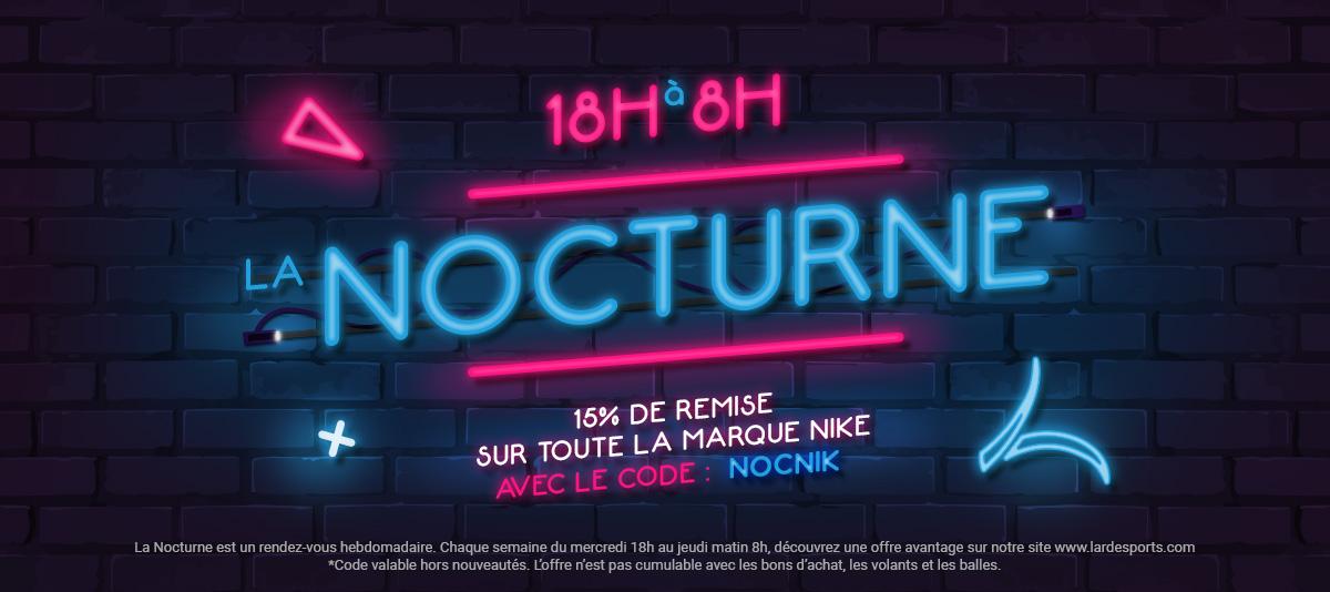 Nocturnes : 15% de remise sur les produits Nike