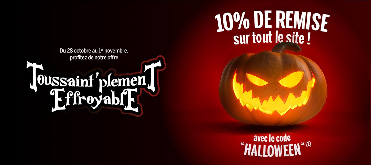 Halloween : 10% de remise !