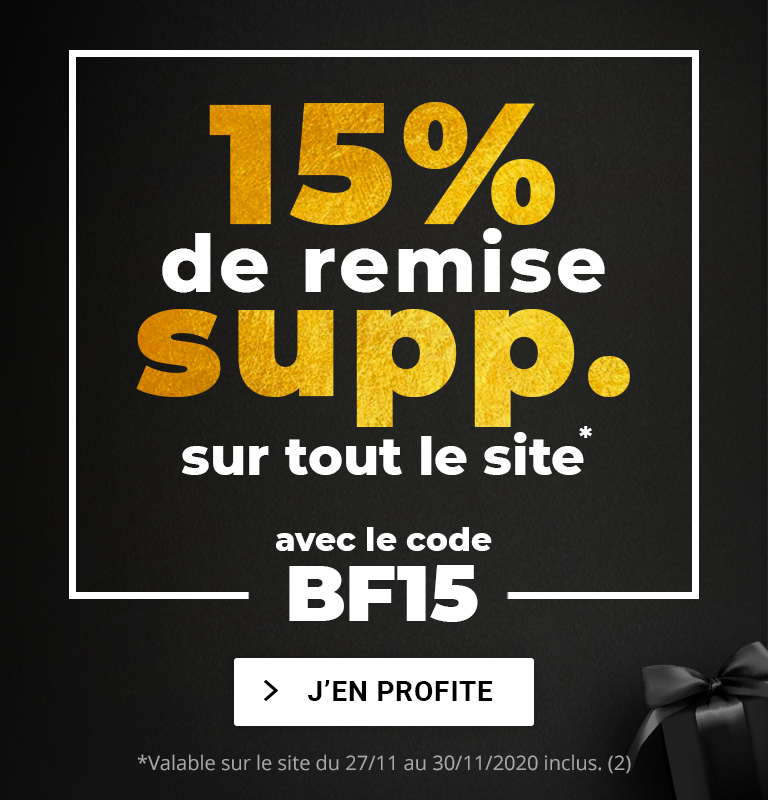 BF15 : 15% de remise supplémentaire