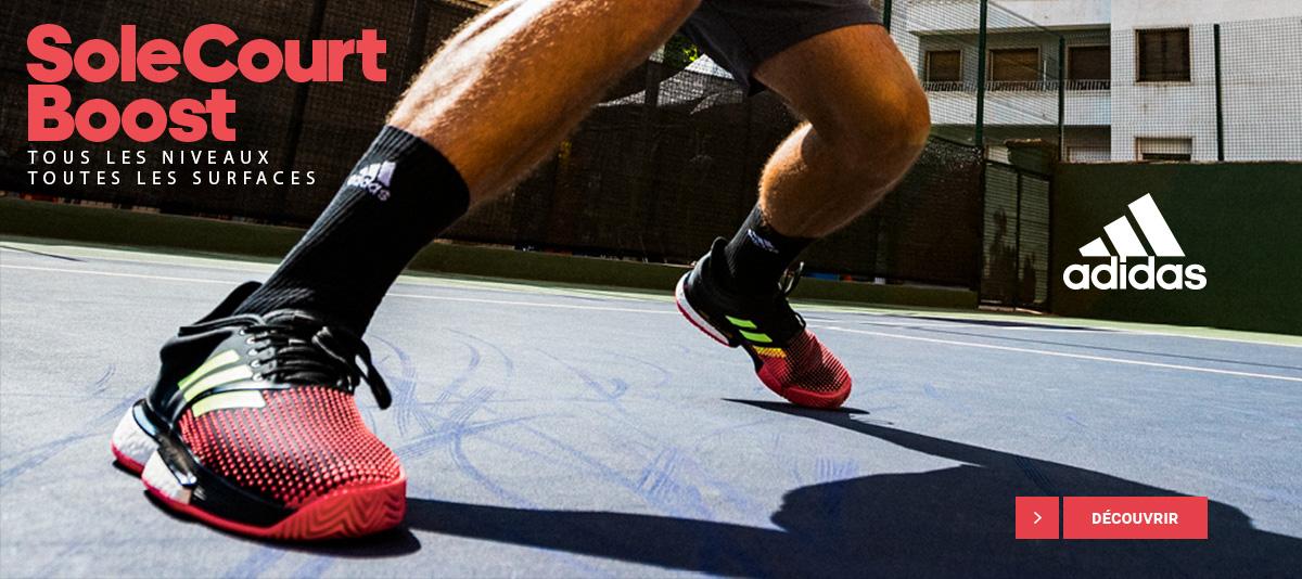 Découvrez les chaussures de tennis Adidas SoleCourt