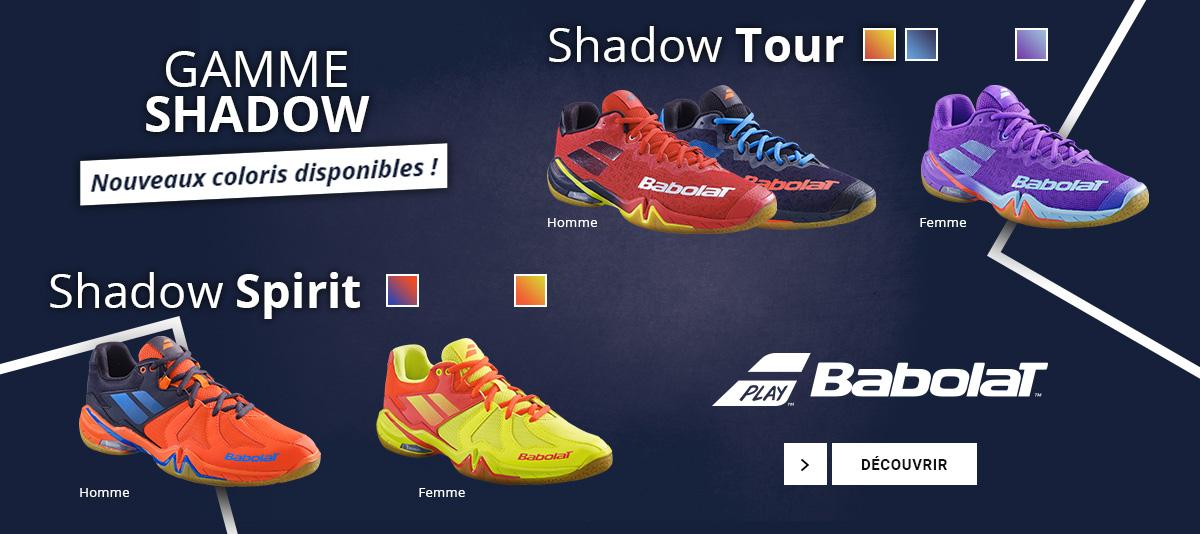 Les nouvelles chaussures de badminton Shadow