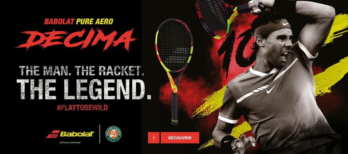 La raquette Decima de Rafael Nadal