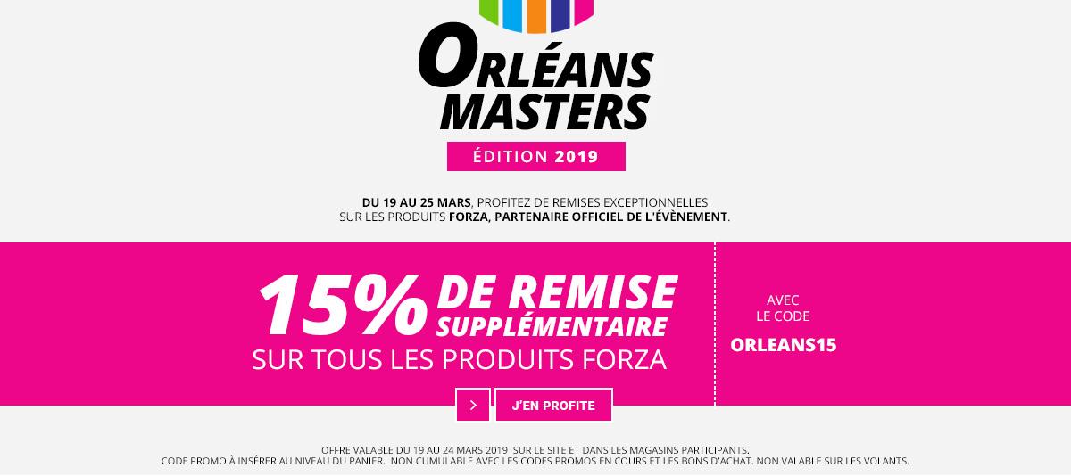 15% de remise sur Forza durant l'Orléans Masters