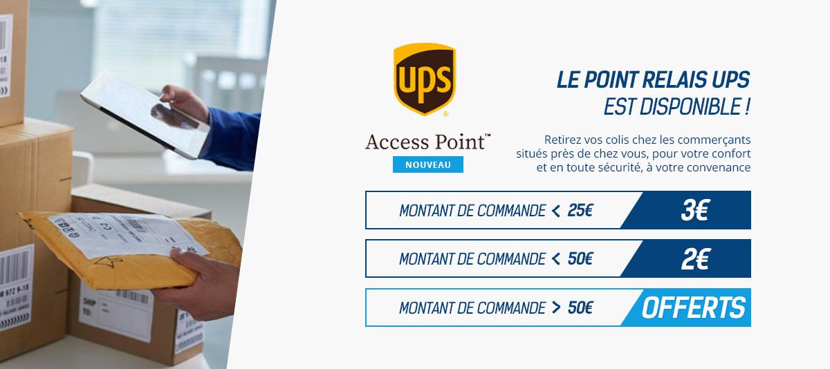 La livraison en point relais UPS est disponible