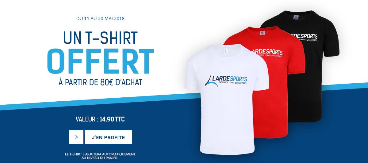 Un t-shirt offert à partir de 80€ d'achat