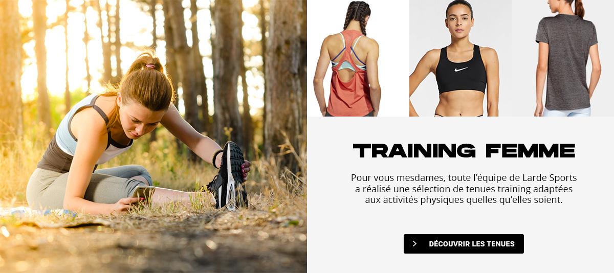 Collection vêtements training femme