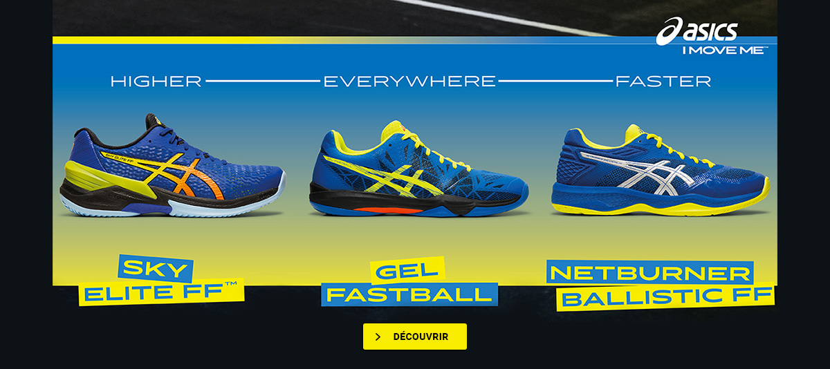 Découvrez la nouvelle gamme de chaussures indoor Asics