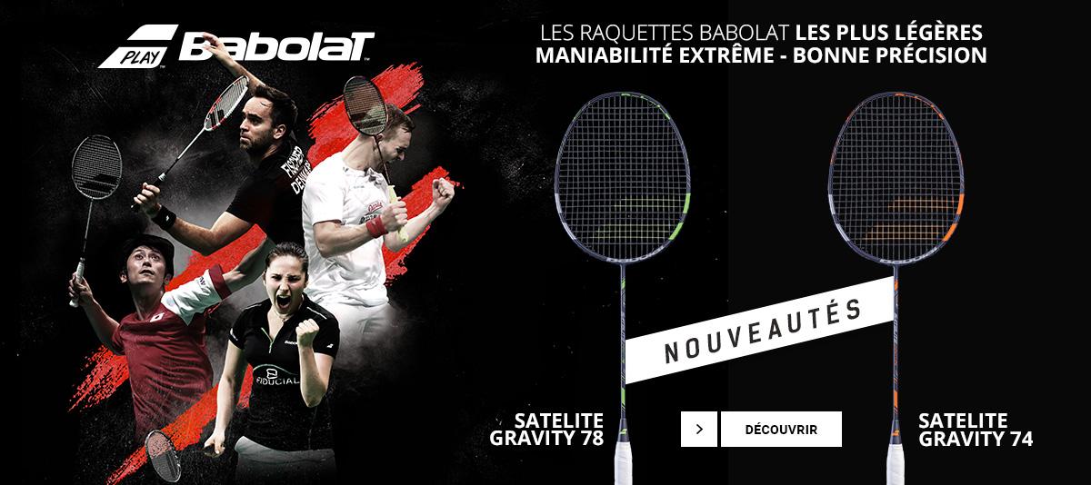 Les nouvelles raquettes de badminton Gravity 74 et 78