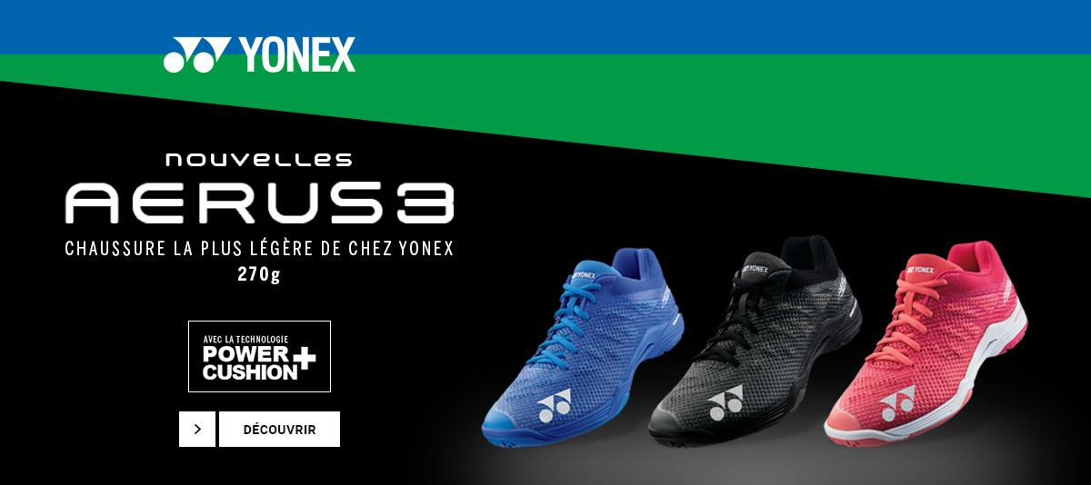 Les nouvelles chaussures de badminton Yonex Aerus 3