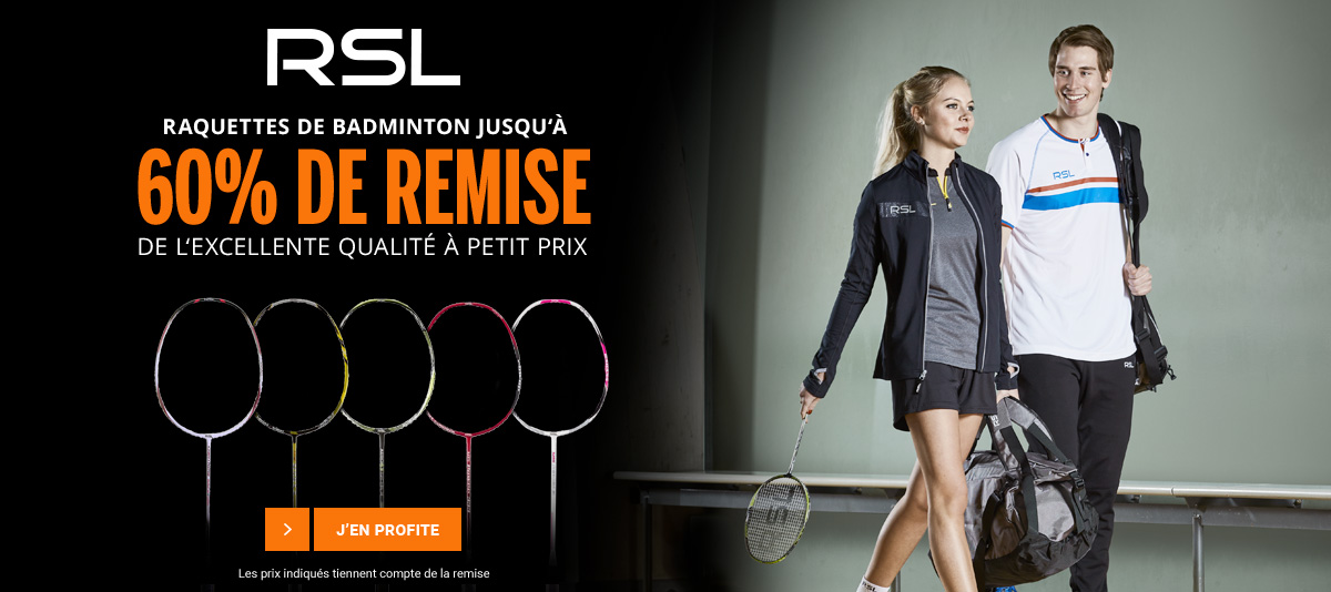 Raquettes badminton RSL