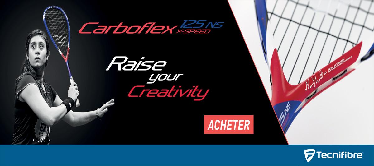Raquette de squash Carboflex 125 ns x-speed