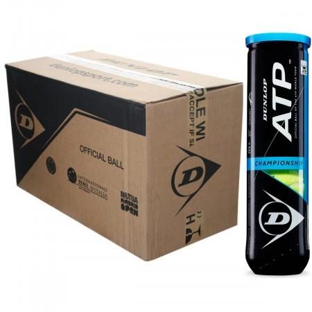 CARTON DE 18 TUBES DE 4 BALLES DUNLOP ATP CHAMPIONSHIP
