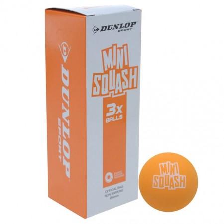 BALLES DE SQUASH DUNLOP MINI PLAY (X3)