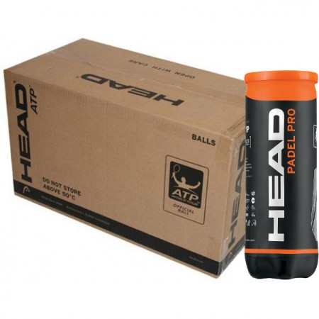 Balles de padel Head Pro (Carton de 24 tubes de 3 balles)