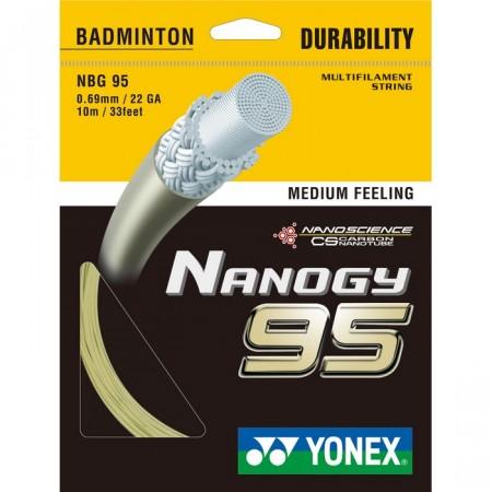 CORDAGE DE BADMINTON YONEX NANOGY 95 (GARNITURE - 10M)