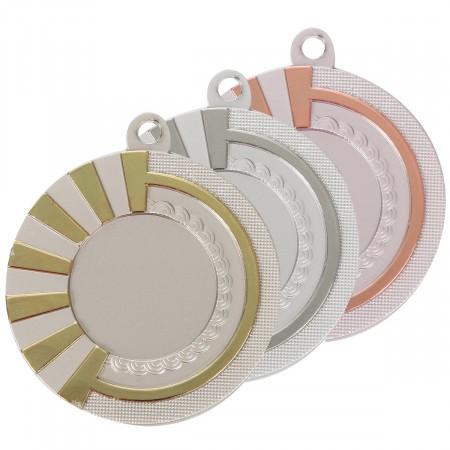 Médaille Diam 5cm M5001 Bicolore