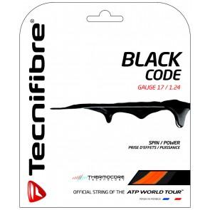 CORDAGE DE TENNIS TECNIFIBRE BLACK CODE (GARNITURE - 12M)