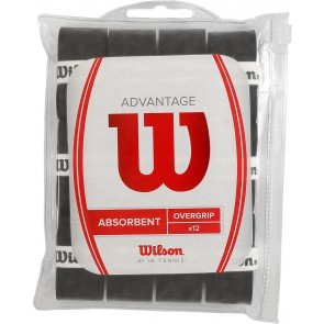 12 SURGRIPS WILSON ADVANTAGE OVERGRIP (ABSORBENT)