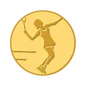 Pastille Tennis Dame pour médailles (Alu - 25mm)