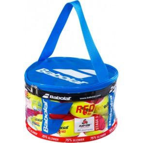 Balles de tennis Babolat Red Felt (sac zippé de 24 balles)