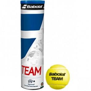 Balles de tennis Babolat Team (tube de 4 balles)