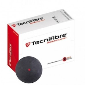 BALLES DE SQUASH TECNIFIBRE (X2 - SIMPLE POINT ROUGE)