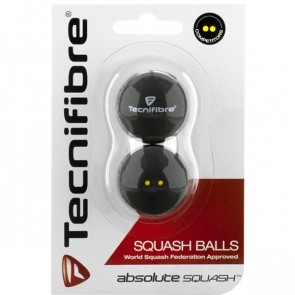 BALLES DE SQUASH TECNIFIBRE (X2 - DOUBLE POINT JAUNE)