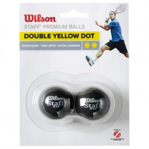 BALLES DE SQUASH WILSON STAFF (X2 - DOUBLE POINT JAUNE)