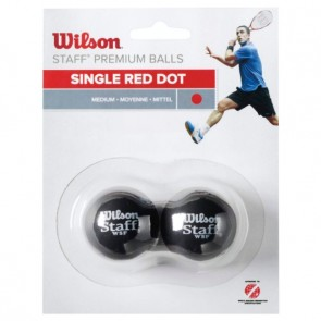 BALLES DE SQUASH WILSON STAFF (X2 - SIMPLE POINT ROUGE)