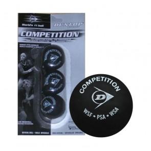 Balles de squash Dunlop Compétition (X3 - Simple Point Jaune)