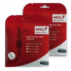 Cordage de tennis MSV Focus Hex Plus 25 (Garniture - 12m)