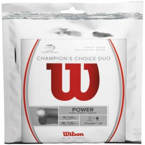 CORDAGE DE TENNIS WILSON Champion's Choice Duo (GARNITURE)