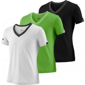 T-Shirt Wilson Junior Fille Col V Team Striped