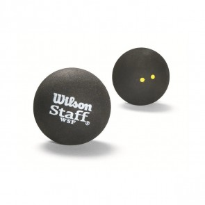 BALLES DE SQUASH WILSON STAFF (X1 - DOUBLE POINT JAUNE)