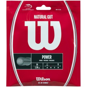 Cordage de tennis Wilson Natural Gut (Garniture de 12,2m)