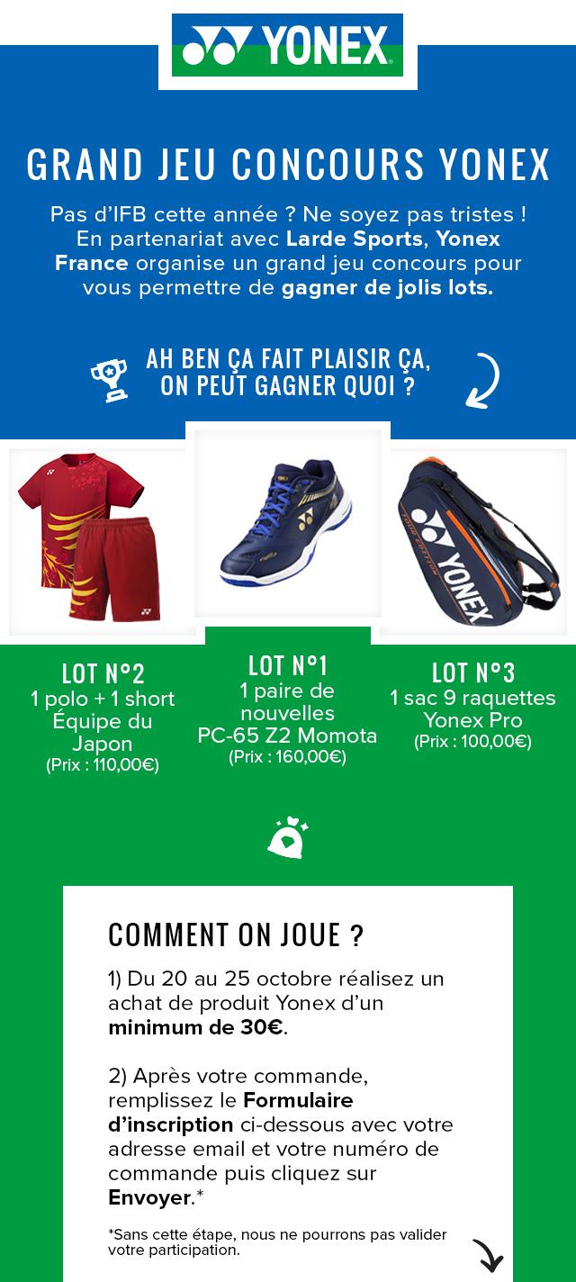 Jeu Concours Yonex 2020 Lardesports Com