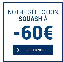 Nos raquettes de squash en soldes à moins de 60€