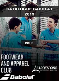Catalogue Babolat Textile 2019