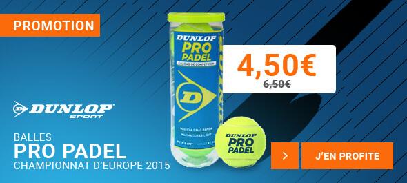 Tube de balles Dunlop Pro Padel